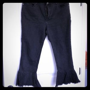 Pilcro and the Letterpress Black Studded Jeans